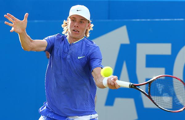 Tomas Berdych v Denis Shapovalov - ATP Aegon Championships Photograph by NurPhoto