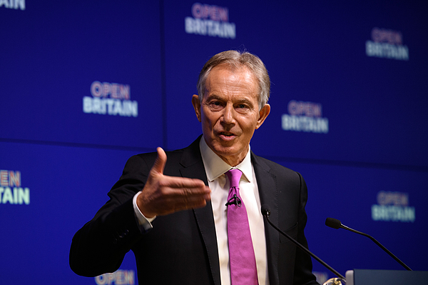 Tony Blair Gives Pro-Eu Keynote Speech Photograph by Carl Court