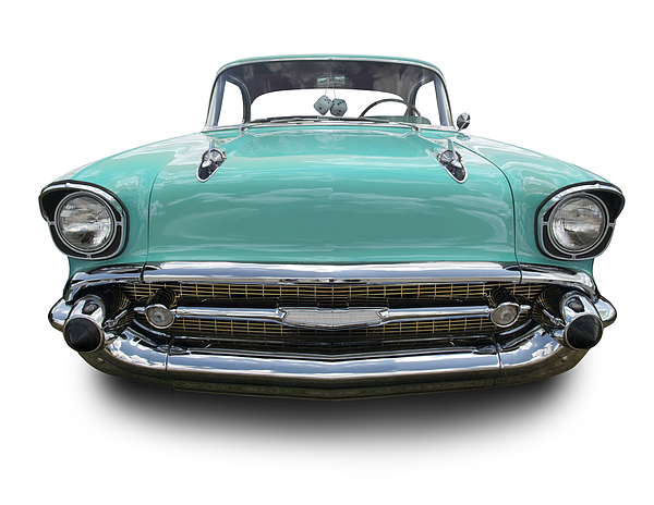 Torquoise 1957 Chevy Photograph by Schlol