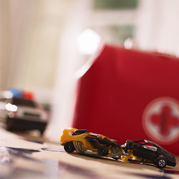Toy car accident. Photograph by Christian Zachariasen