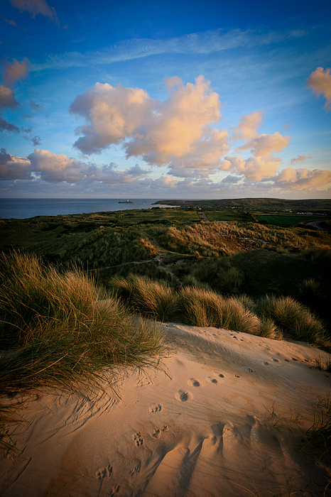 Tracks, towards Godrevy Lighthouse, Cornwall Photograph by s0ulsurfing - Jason Swain