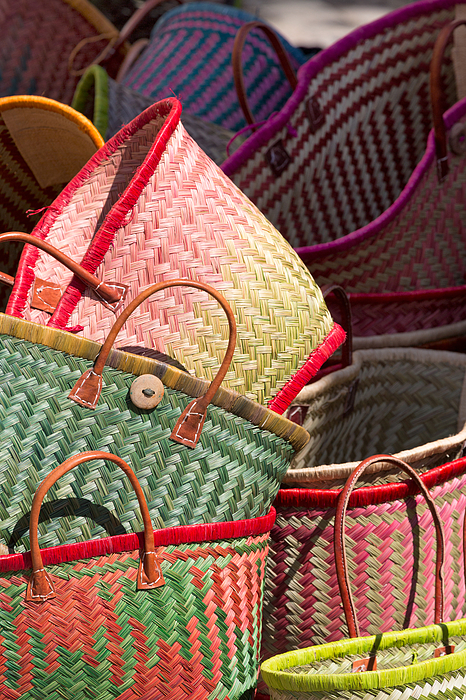 Traditional baskets for sale in Aix en Provence Photograph by Martin Child