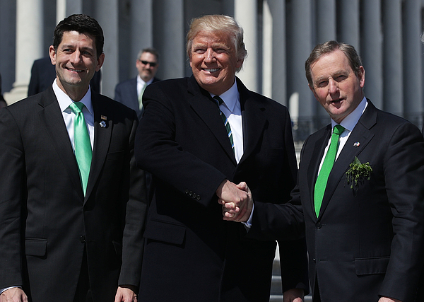 Trump, Paul Ryan Attend Traditional Congressional Luncheon For Irish PM Photograph by Alex Wong