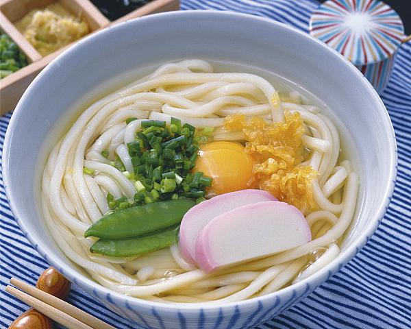 Tsukimi udon Photograph by Gi15702993
