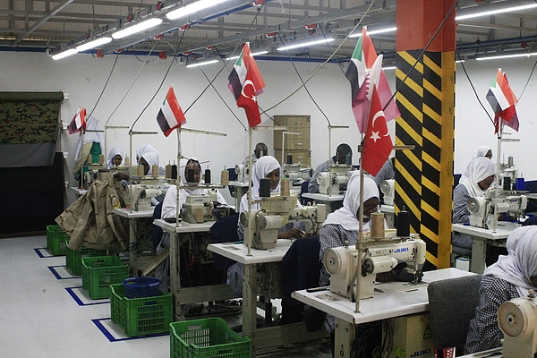 Turkish-Qatar Textile Factory opens in Sudan Photograph by Anadolu Agency