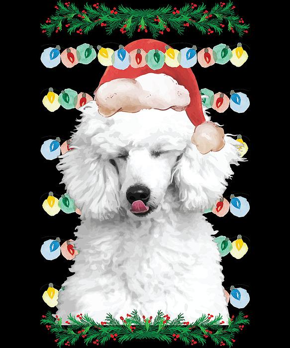 Stocking Stuffer Digital Art - Ugly Christmas Poodle Dog by Michael S