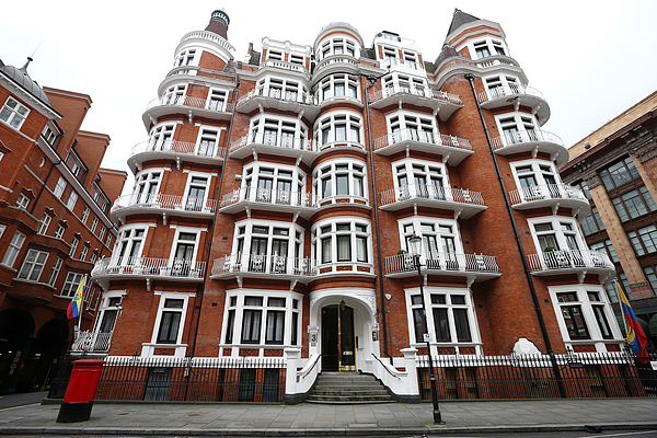 UN Panel To Rule That Wikileaks Founder Is Unlawfully Detained At Ecuadorian Embassy Photograph by Carl Court