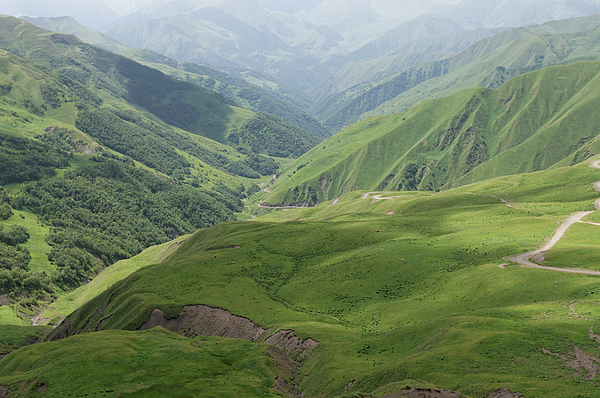 Valley in the Caucasus Mountains, Khevsureti, Georgia Photograph by Vyacheslav Argenberg