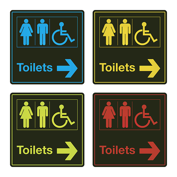 Vector Colorful Toilet Sign Collection Drawing by Mysondanube