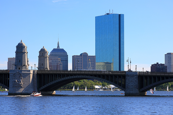 View At Longfellow Bridge With 200 Clarendon, Former John Hancock Tower In The Background Photograph by Rainer Grosskopf