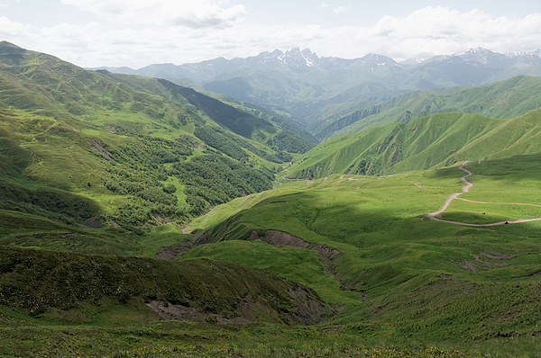 View from Datvis Jvari Pass, Caucasus Mountains, Georgia Photograph by Vyacheslav Argenberg
