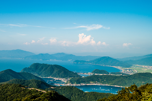View From The Mikata Goko Rainbow Line. Fukui Japan Photograph by Little Dinosaur