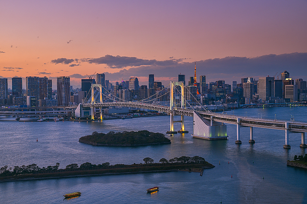 View Of Bridge In City At Sunset Photograph by Napon Thiphayamontol / EyeEm