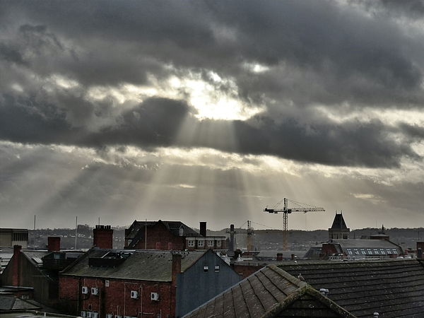View Of Cityscape Against Cloudy Sky Photograph by Jason Raven / EyeEm