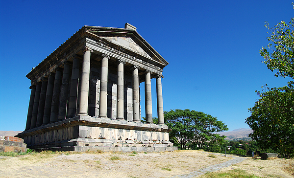 View of Garni temple Photograph by Created by Tomas Zrna