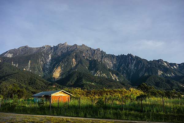View Of Mount Kinabalu From Kundasang Village Photograph by Shaifulzamri