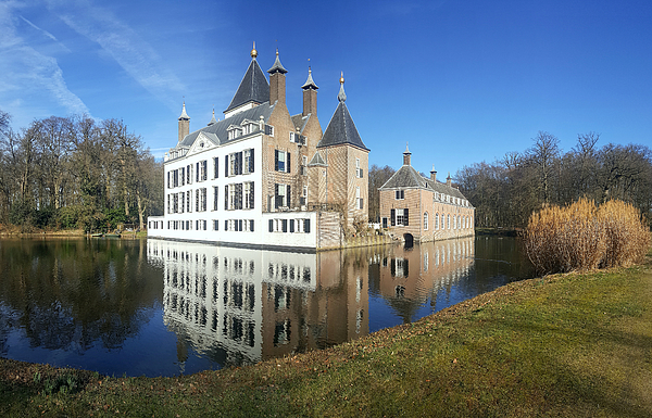 View of Renswoude Castle and lake, Netherlands Photograph by Frans Sellies