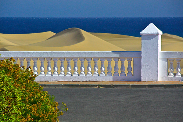 Viewpoint from hotel at dunes and ocean Photograph by David Graumann