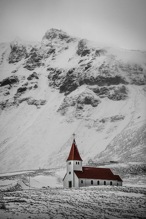Vik í Myrdal Church Photograph by Mabry Campbell