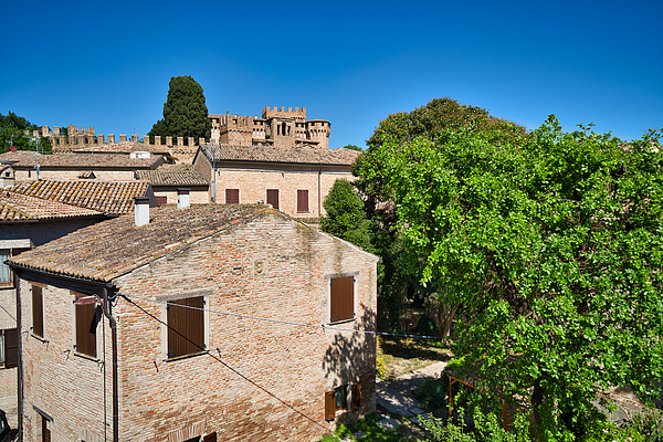 Village and Castle of Gradara, Marche Photograph by Mauro Tandoi