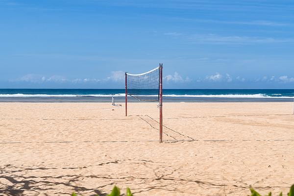 Volleyball Net On Nusa Dua Beach Photograph by Mauro Tandoi