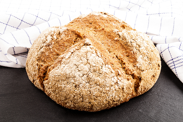 Warm, Freshly Baked Irish Soda Bread Photograph by Szakaly