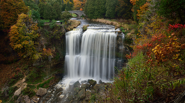 Websters waterfall in the Autumn Photograph by Saffron Blaze