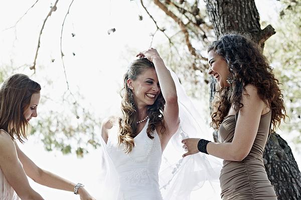 Wedding Celebration Outdoors, Croatia, Europe Photograph by Secen-Steets