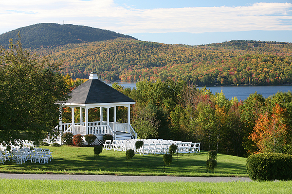 Wedding Gazabo In The Fall Photograph by Jpbcpa