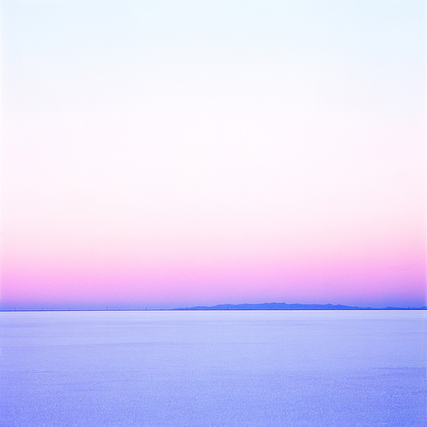 White Pink And Blue Sunset On The Salt Flats Of Utah Photograph by Digital Vision