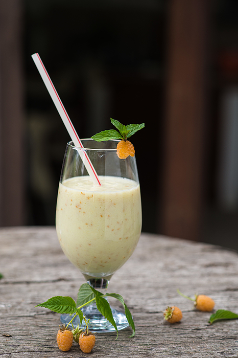 White Raspberry Shake Photograph by Galya Ivanova