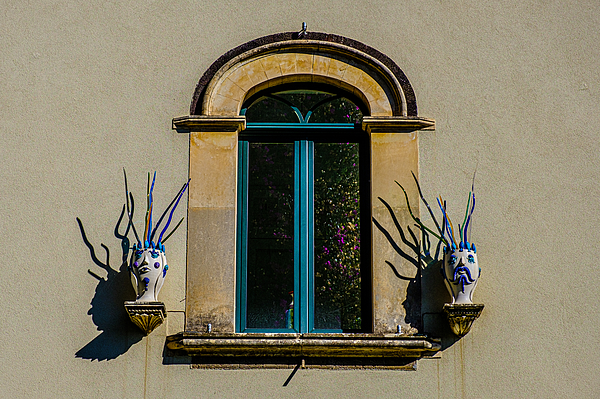 Window With Decoration In Taormina Sicily Italy Photograph by Finn Bjurvoll Hansen