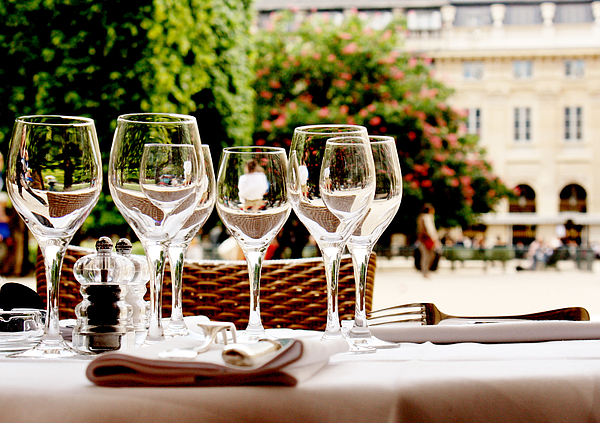 Wineglasses and table setting Photograph by Nadia Draoui