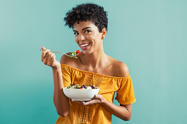 Woman Eating Salad Photograph by Ridofranz