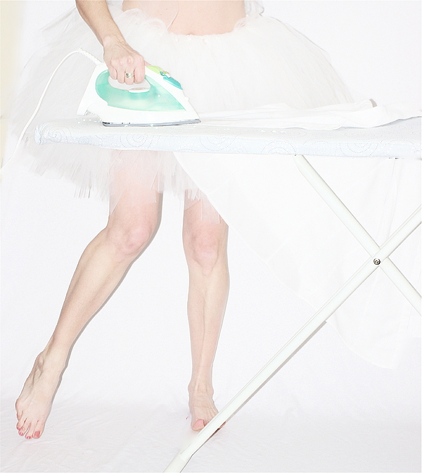 Woman ironing in white tutu Photograph by Image By Emeraldnicola
