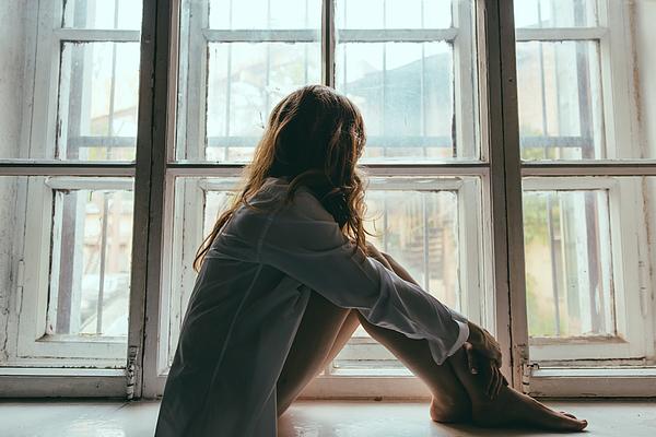 Woman Looking Through Window Photograph by Konstantin Sud / Eyeem