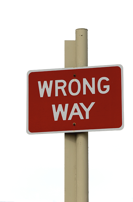 Wrong Way Photograph by Richard Sharrocks