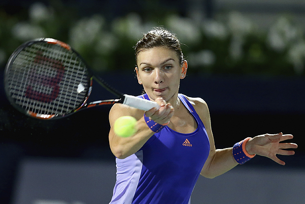 WTA Dubai Duty Free Tennis  Championship - Day Four Photograph by Francois Nel