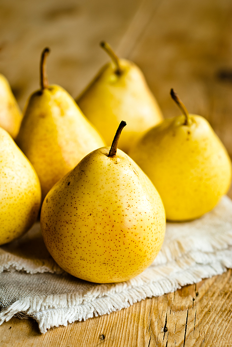 Yellow pears on a table Photograph by Sarka Babicka