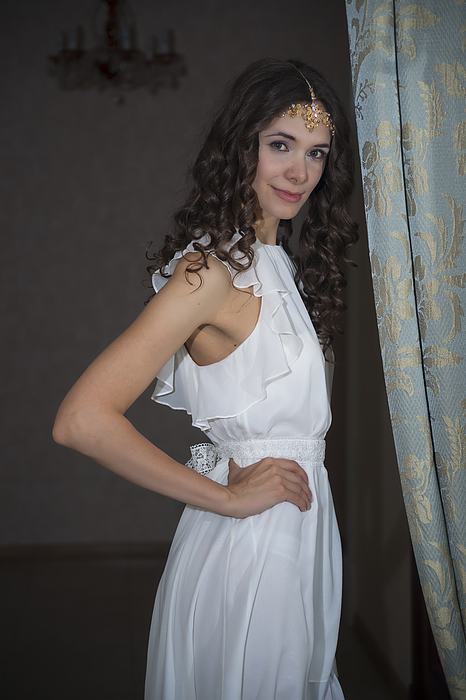 Young woman in white dress Photograph by Boris SV
