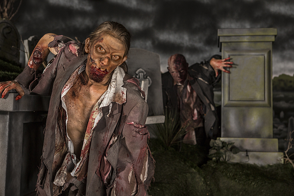 Zombies in the graveyard Photograph by Inhauscreative