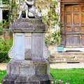 Little Angel With A Dog In The Montresor Garden In The Loire Valley Fr by Renata Ratajczyk