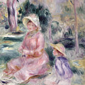 Madame Renoir And Her Son Pierre by Pierre Auguste Renoir