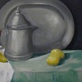 Pewter And Fruit by Robert Kost