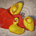 Three Rubber Ducks  #1 by Donelli  DiMaria