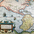 New World Map, 1570 by Granger
