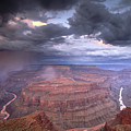 A Monsoon Storm In The Grand Canyon by David Edwards