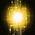 Abstract Circuit Board Lighting Effect  by Setsiri Silapasuwanchai
