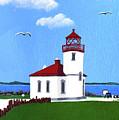 Alki Point Lighthouse by Frederic Kohli