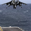 An Av-8b Harrier II Prepares To Land by Stocktrek Images